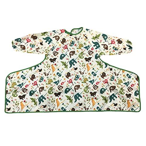 Povanjer Babero impermeable para bebé, baberos de alimentación lavables, baberos absorbentes, baberos para niños y niñas Toddle 6 – 24 meses, resistente a las manchas y olores