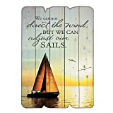 We Can Adjust Our Sails Inspirational Wooden Wall Sign Vintage Wall Decor Wall Art Sign Wi...