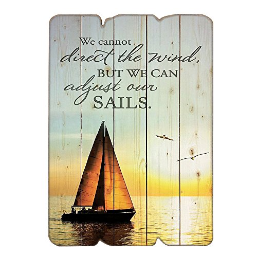 We Can Adjust Our Sails Inspirational Wooden Wall Sign Vintage Wall Decor Wall Art Sign With Sayings For Home Decor