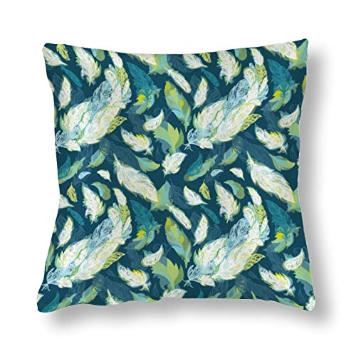 NiYoung Pillow Covers Fall Decorative Throw Pillow Covers Standard Square Cushion Cover for Couch Bedroom Car, 18x18 Inch (Peacock Feather (25) 0)