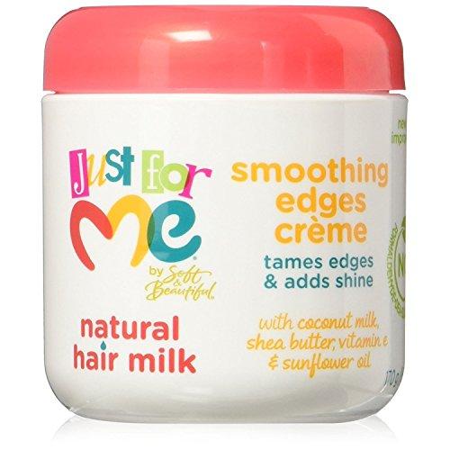 Just For Me Crème de coiffure Hair Milk Smoothing Edges - Enrichie au lait de soja et au miel sans alcool - Pot de 118 ml