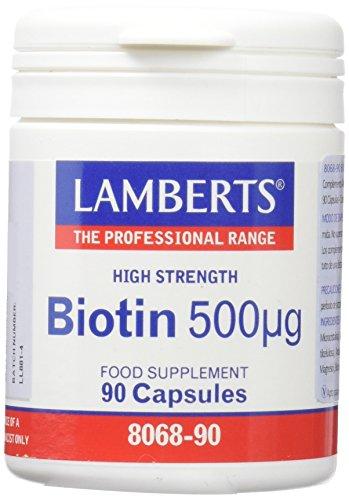 Lamberts Biotina 500Ug - Cápsulas, 90 Unidades