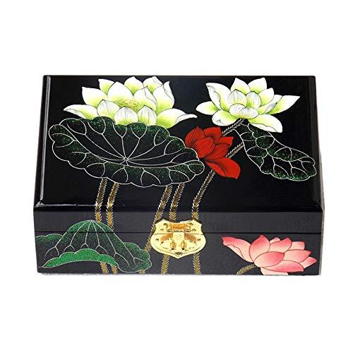 GAONAN Caja de joyería de Madera, Caja de Almacenamiento de baratijas pequeña, decoración del hogar, Adecuado para Pendiente Anillo y Pulsera Caja de Almacenamiento de Joyas (Color : A)
