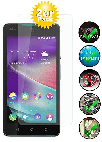 Smartphone Equipment [2er Pack] Panzerglas für Wiko Rainbow Jam gehärtetes Glas 9H, Echtglas Glasfolie Glas Folie Panzerglasfolie Schutzfolie Panzerfolie Bildschirmschutz