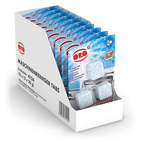 ORO Maschinenreiniger für Geschirrspüler - 30 Stück - wirkungsvoll gegen unangenehme Gerüche - Geschirrspüler Reiniger - Spülmaschine Reinigungsmittel / Spülmaschinenreiniger