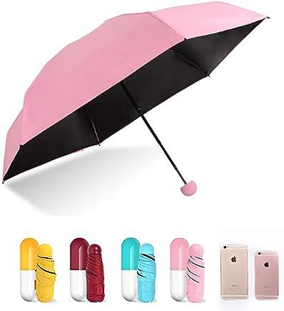 Skyfish® Windproof Multi Color Foldable Mini Cute Capsule Umbrella