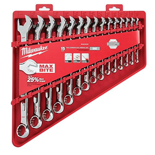 Milwaukee Combination Wrench Sets Bundle - 2 Items - Metric (8mm-22mm) SAE (1/4