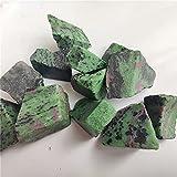 YSJJAXR Pietra di Cristallo Naturale Epidote Naturale Rubino Minerale in Pietra di Cristallo Pietra Roccia Chips Specimen Collezione di guarigione Naturale Pesce di Cristallo Naturale Pietra