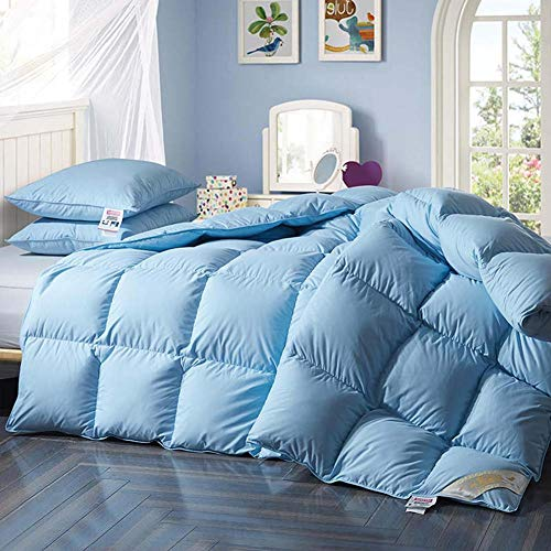 YXZN Feather Down Duvet Luxurious Hotel Quality Hypoallergenic Comforter Quilt with 100% Down-proof Cotton Shell Double Machine Washable with Premium Box-stitch Design