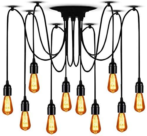 Arm 10 Spider licht retro Edison stijl verstelbare Housing plafond kroonluchter Antieke Spider (elk met 78,74
