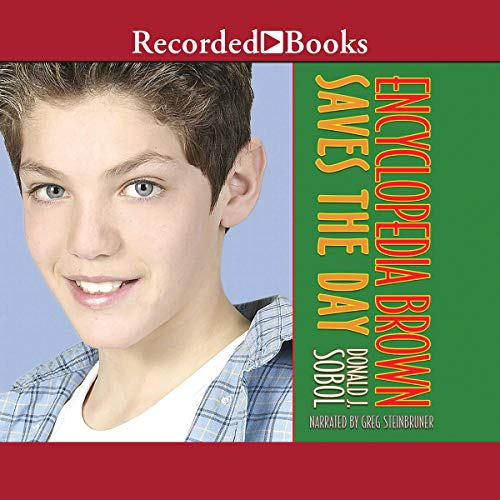 Encyclopedia Brown Saves the Day audiobook cover art