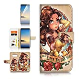 (for Samsung S10+ / Galaxy S10 Plus) Flip Wallet Case Cover & Screen Protector Bundle - A21525 Beauty Beast