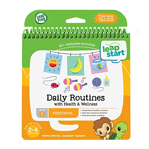 LeapFrog LeapStart Preschool Activity Book: Daily Routines and Health & Wellness, Great Gift For Kids, Toddlers, Toy for Boys and Girls, Ages 2, 3, 4