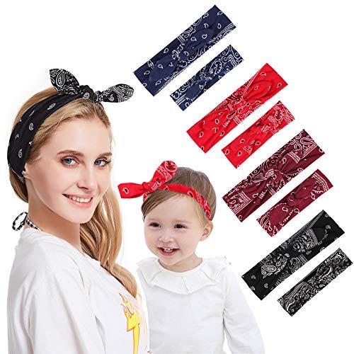 4 Ensembles Maman Et Moi Bandeaux Bande De Cheveux Noeud Noeud Bandeaux Enfant Cheveux Accessoires Turban Enfant Correspondant Tête Wrap Ensemble