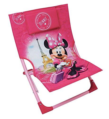Fun House 712890 DISNEY MINNIE Chaise/Fauteuil de Plage pliable pour Enfant