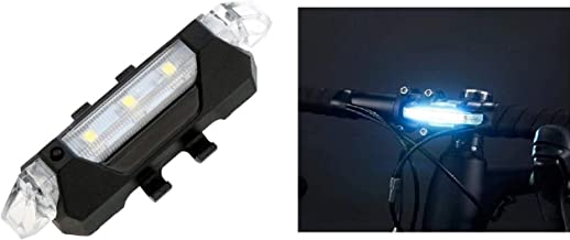 Inditradition USB Rechargeable Bicycle LED Head Light   Multi-Functional 4 Lighting Modes (White)