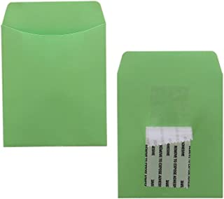 Hygloss Products Library Card Pockets, Self-Adhesive, 3.5 x 4.875 in, 30 Pockets, Lime Green