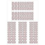5 Sheets Full Wraps Nail Polish Stickers Self-Adhesive Nail Art Cartoon Penguin Strips Manicure Kits Nail Art Designs