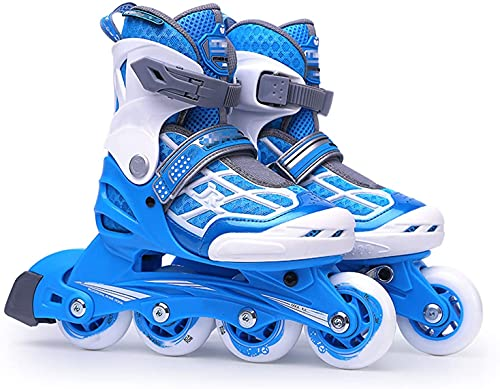 Patines enrollables Ajustable Ajustable Patines en línea para niños, Fitness de interior al aire libre Fitness Patines de patines para niñas y niños, High Performance Principiante Patines en l