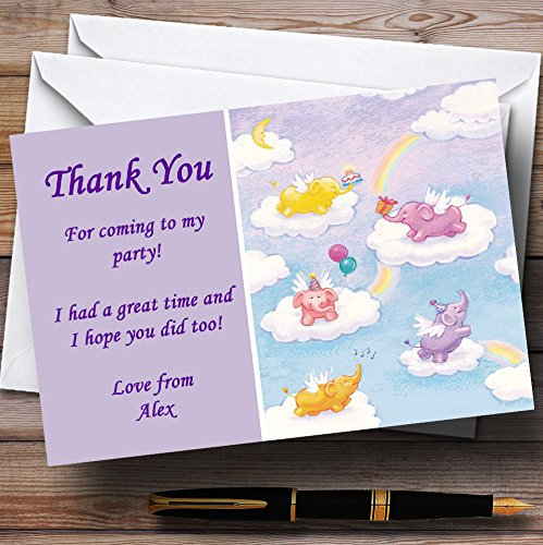10 x Uitnodigingen Olifanten Baby Slaapzak Kinderen Gepersonaliseerde Party Dank Kaarten