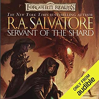Servant of the Shard     Forgotten Realms: The Sellswords, Book 1              Written by:                                                                                                                                 R. A. Salvatore                               Narrated by:                                                                                                                                 Victor Bevine                      Length: 13 hrs and 17 mins     16 ratings     Overall 4.9