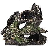 LTHDD Acuario Ornamento Decoración Estatuilla Resina Resina Acuario Tronco