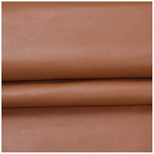 YANGUANG Polipiel para Tapizar, Cuero sintético Resistente Material de Tela de Vinilo sintético Suave Hojas de Cuero sintético, for Muebles Sofás, sillas, Muebles Antiguos restaurados (Color : Brown)