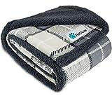 PetAmi Waterproof Dog Blanket for Medium Dogs, Puppies, Small Cats | Soft Sherpa Fleece Pet Blanket...