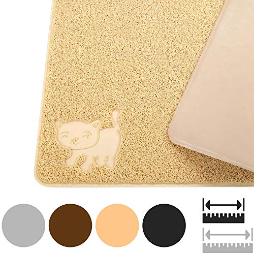 Smiling Paws Pets Cat Litter Mat, BPA Free, XL...