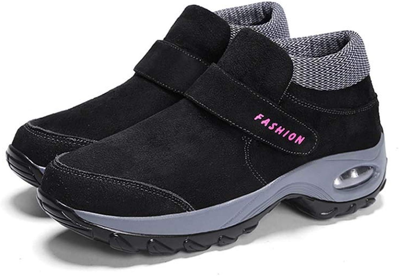kvinnor Hiking skor, mocka Winter stövlar High Rise skor Line Water Resistent Hiking stövlar Anti -Slip utomhus Snow stövlar