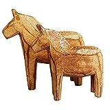 2 figuras de madera de Dala para decoración del hogar de madera