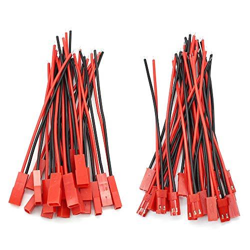 D-Orange 20 Paar JST Steckverbinder 22 AWG JST 2 Pin Stecker Männlichen und Weiblichen Steckverbinder Adapter mit 100 mm Elektrisch Kabel für LED Lampe Streife
