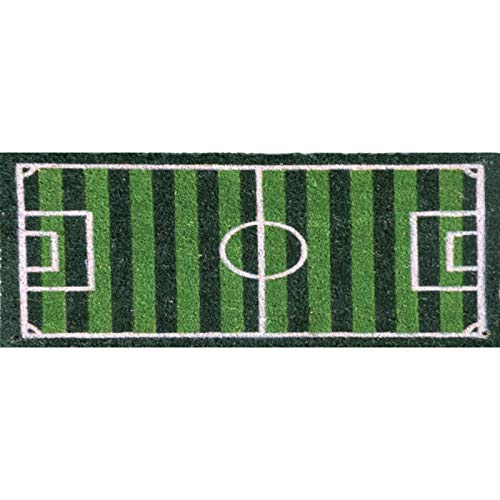 PRG Felpudo de campo de fútbol pequeño de fibra de coco, 75 x 26 cm, accesorios para el hogar