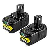 Boetpcr 2x 18V 5.0Ah Batterie de remplacement pour Ryobi One+ RB18L50 RB18L40 RB18L25 RB18L15...