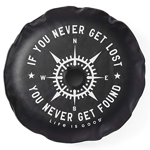 """Life is Good Tire Cover, Rearview Night Black, 32"""""""
