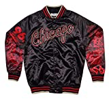 Mitchell & Ness Sublimated Gold Satin Jacket Chicago Bulls Black/red M