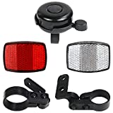 SANNIX Bike Front & Rear Reflector Kit Bicycle Bell Bicycle Accessories