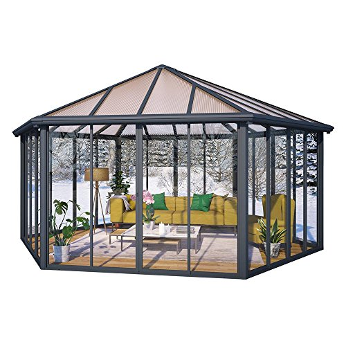 Palram Garda 19.5 ft. x 17 ft. Closed Garden Gazebo