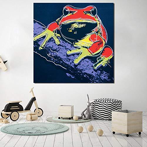 tzxdbh Bladkikker van Andies Warholer canvas poster afdrukken muurkunst pop-schilderij decoratieve afbeelding moderne kinderkamer decoratie HD 20x20 inch Geen frame.
