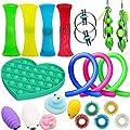 21Pcs Juguetes Sensoriales, Kit de Juguetes Antiestrés, para Aliviar el Estrés para Niños y Adultos, Sensory Fidget Toys Set de juguetes sensoriales Set de juguetes sensoriales para TDAH, Autismo de JOAN