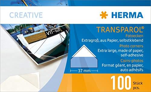 Herma 1302 Transparol Monedas-Formato de fotos gigante 100 piezas Transparente
