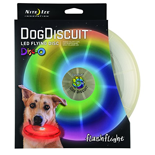 Nite Ize Flashflight Dog Discuit, Light Up Dog Flying Disc, Disc-O Color Changing LED