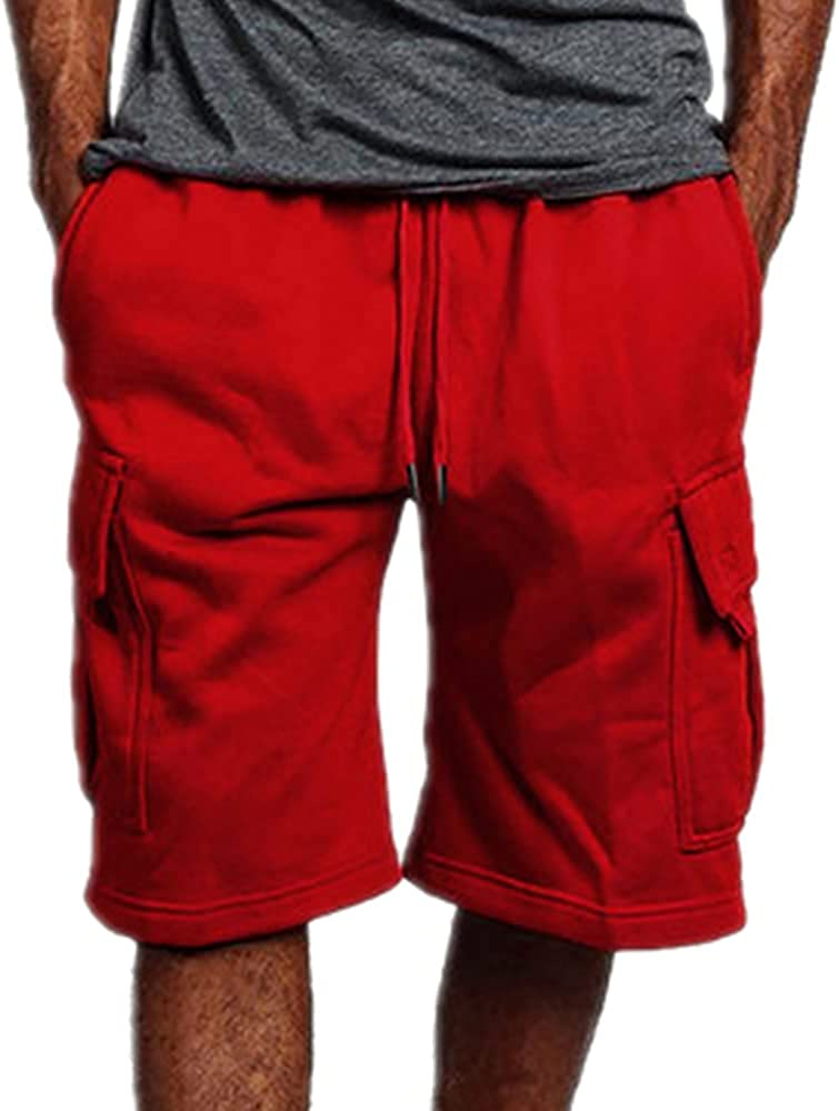 NP Summer Men Short Homme Casual Loose Straight Tooling Five-Point Casual Shorts