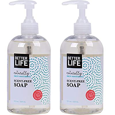 Better Life natural hand and body soap, unscented, 12 ounces (pack of 2), 2424b, Unscented, 12 Fluid Ounce
