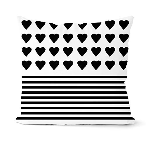 Grå och svart geometriskt kuddöverdrag dekorativ kudde hem soffa dekoration prydnadskudde överdrag kuddöverdrag A13 45 x 45 cm 1 st