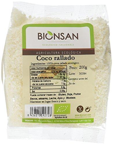 Bionsan Coco Rallado Ecológico - 6 Bolsas de 200 gr - Total
