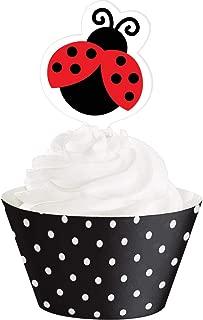 Ladybug Fancy Cupcake Wrappers W/Picks 51632