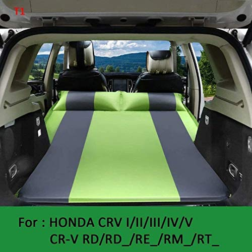 Zixin Car back seat mattress SUV Air Mattress Car Inflatable Mattress Upgraded Thickened Camping air Mattress Portable Surface Air Mattress with Electric Air Pump (Color : Navy, Size : T2)