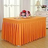 manteles del hotel, faldas de mesa de comedor en frío, manteles de conferencias, rectangulares, 120 * 60 * 75cm mantel ( Color : Naranja )
