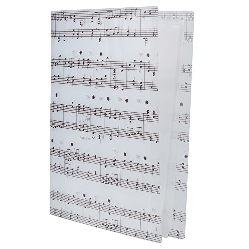 Punk - Carpeta archivadora tamaño A4 para informes, partituras y recortes, color Music Sheet White white